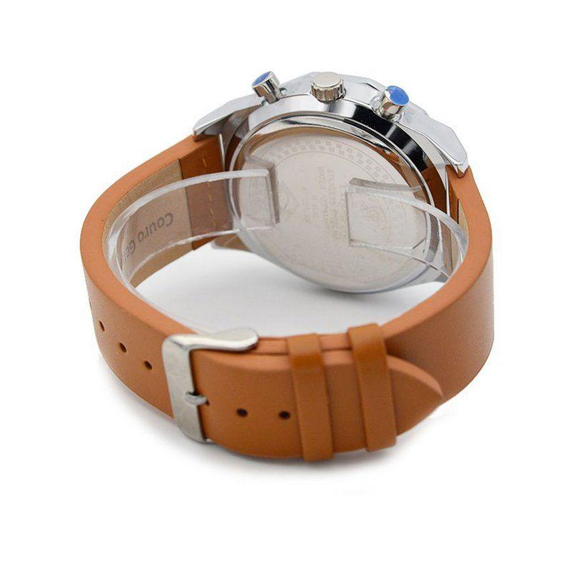 83d2c91f6b Relógio Masculino Tuguir Analógico 5042 Bege e Prata - ShopDesconto ...