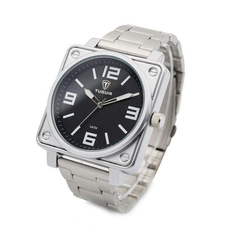 a23e8233da Relógio Masculino Tuguir Analógico 5019 Prata e Preto - ShopDesconto ...