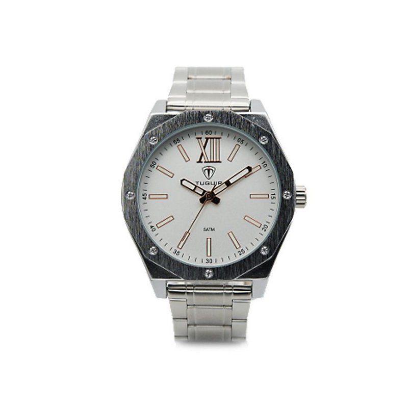 392b33856d Relógio Masculino Tuguir Analógico 5032 Prata e Branco - Imagem 1 ...