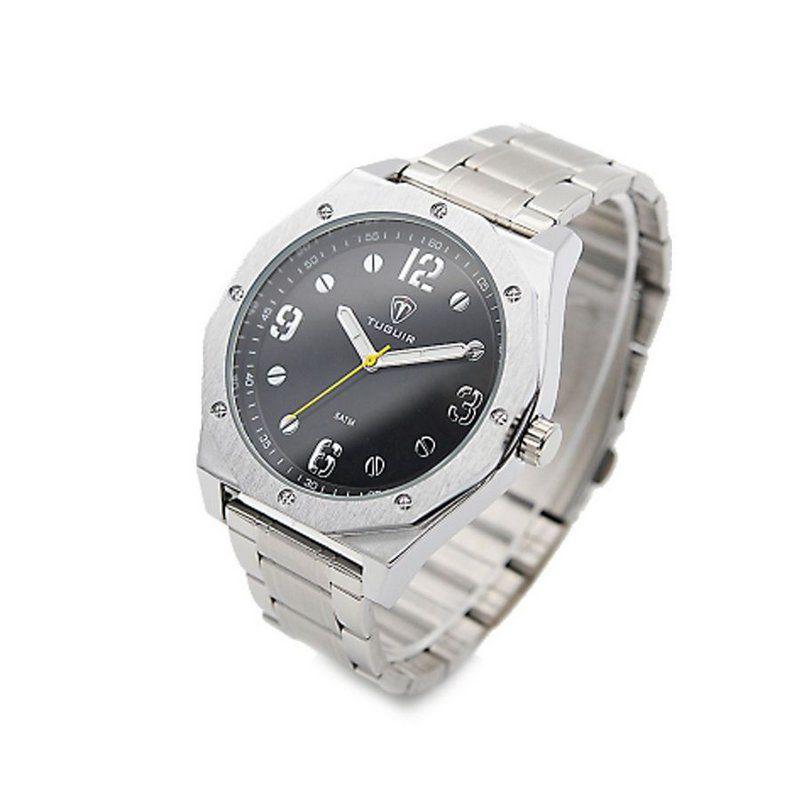 0ce8eace43 Relógio Masculino Tuguir Analógico 5034 Prata e Preto - ShopDesconto ...