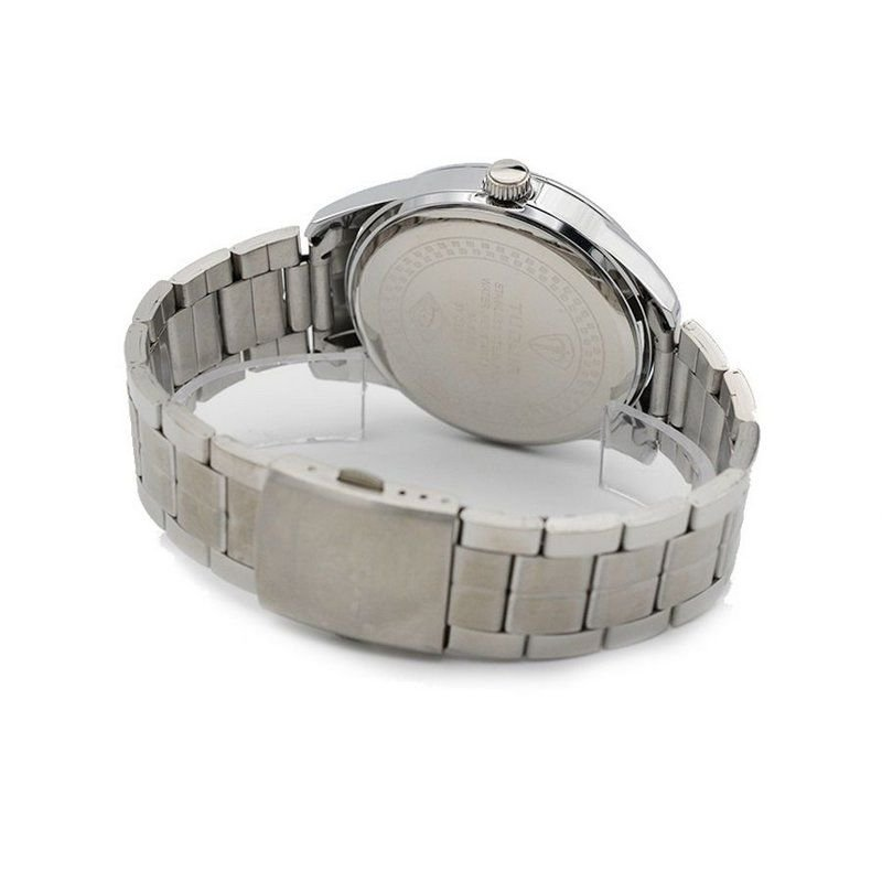 238df4d4ac Relógio Masculino Tuguir Analógico 5035 Prata e Preto - ShopDesconto ...