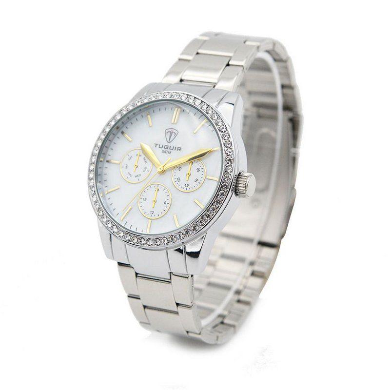 2fd0065d44 Relógio Feminino Tuguir Analógico 5028 Prata - ShopDesconto - Aqui ...