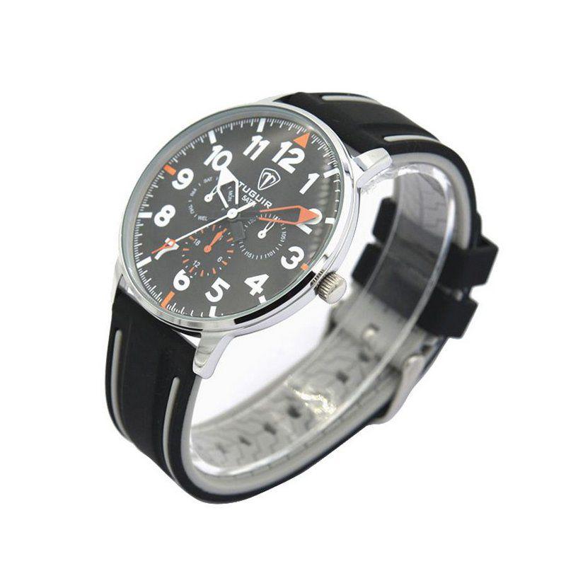 dcbfec08e6 Relógio Masculino Tuguir Analógico 5002 Preto e Prata - ShopDesconto ...