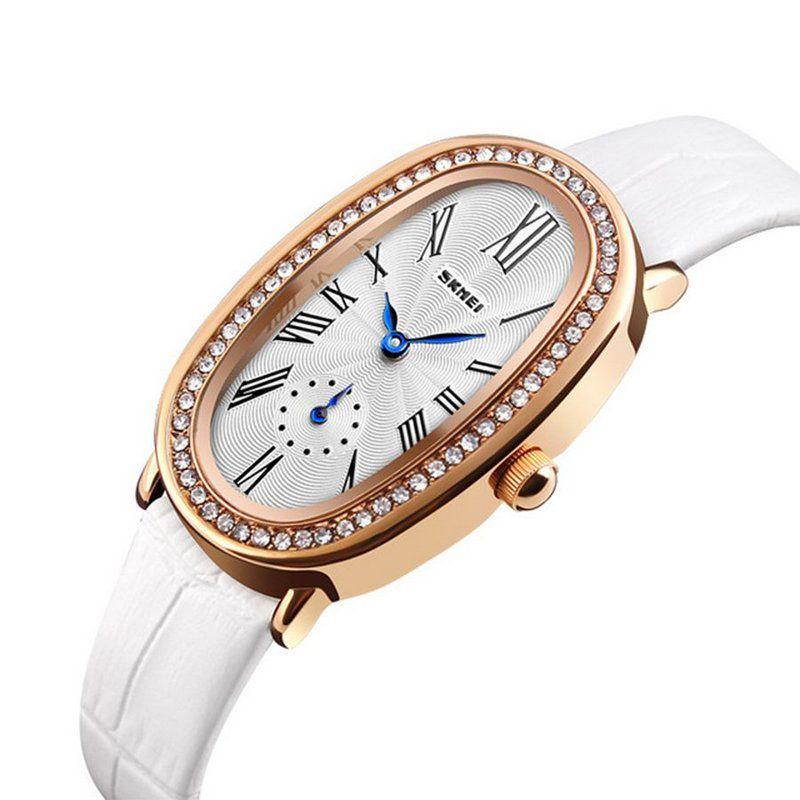 e6eb3333391 Relógio Feminino Skmei Analógico 1292 - Branco - ShopDesconto - Aqui ...