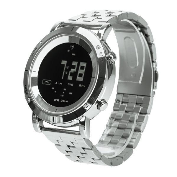 4148297e7c6 ... Relógio Masculino Tuguir Metal Digital TG6017 Prata e Preto - Imagem 2  ...