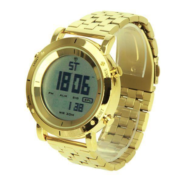 888d4a4bdb7 Relógio Masculino Tuguir Metal Digital TG6017 Dourado - ShopDesconto ...