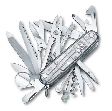 Canivete Victorinox SwissChamp Prata Translúcido
