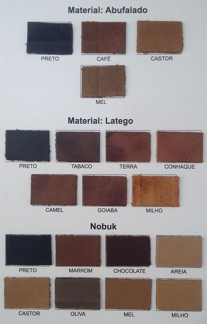Material: Abufalado, Látego e Nobuck