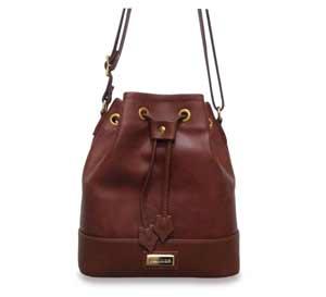 bolsa estilo saco pequeno cor caramelo