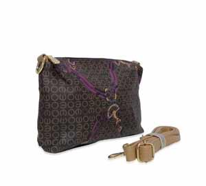 bolsa de mulher shopping bag mais bolsa transversal marrom com rosa