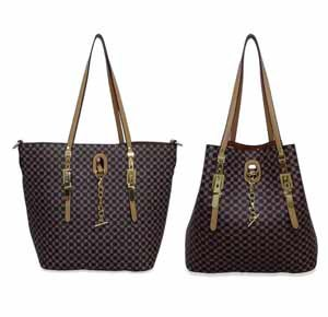 bolsa shopping bag mais bolsa transversal em promoção