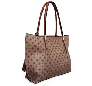 bolsa shopping bag mais transversal marrom claro