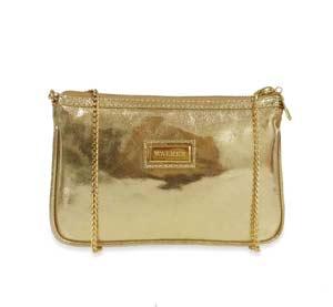 bolsa pequena transversal dourada