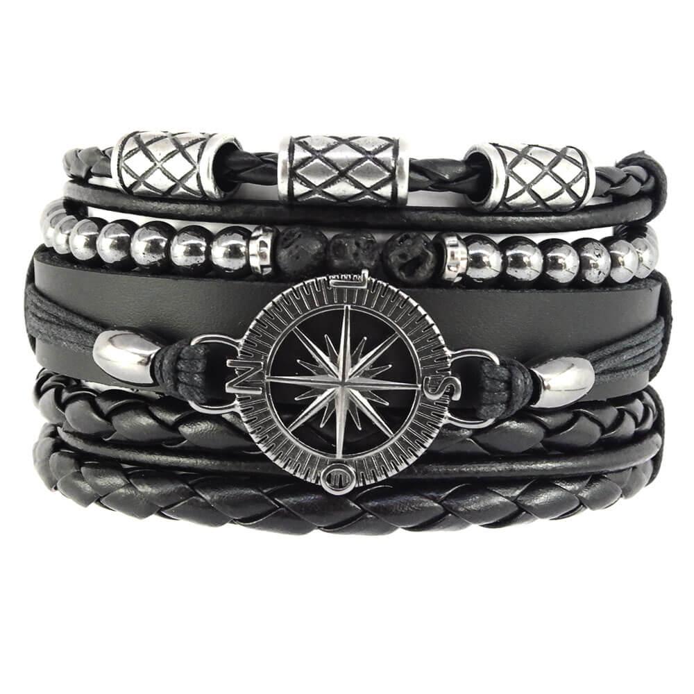 pulseiras-masculinas-de-bussola-negra