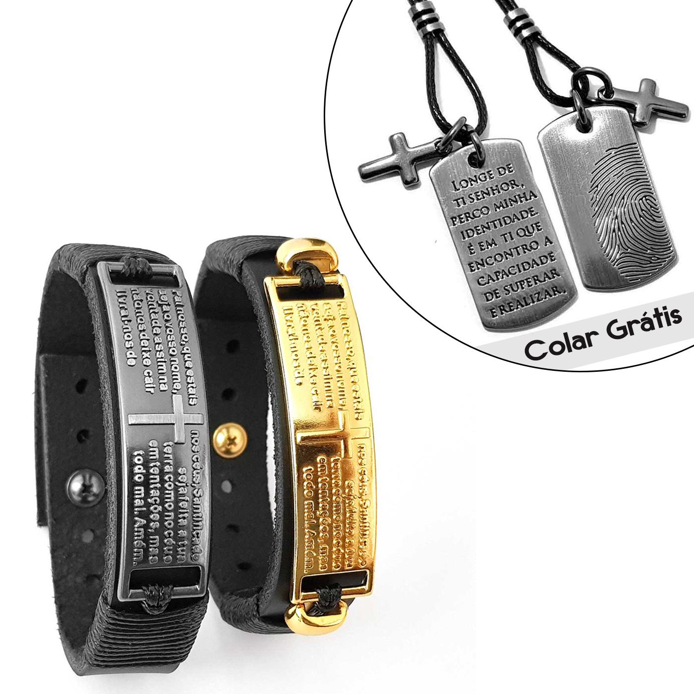 pulseiras-masculinas-pai-nosso-colar-grafite