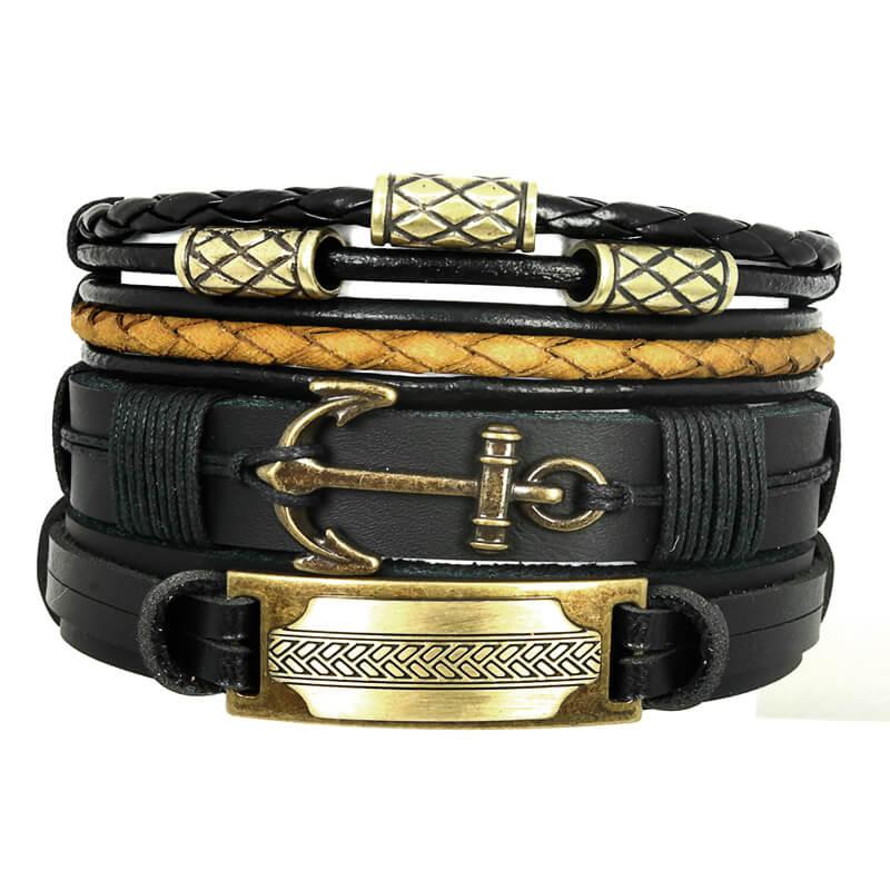 pulseiras-masculinas-de-couro-ancora-maori