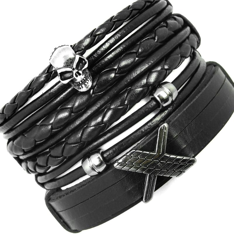 pulseiras-masculinas-caveira-x