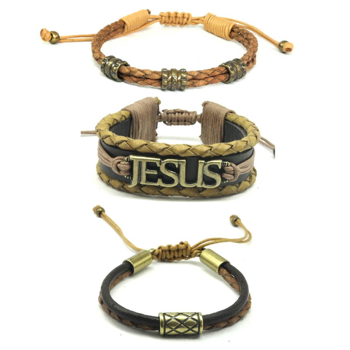 pulseiras-masculina-em-couro-jesus