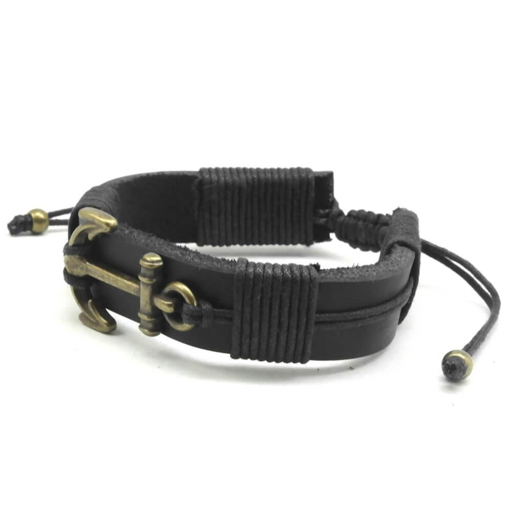 pulseira-de-couro-ancora-negra