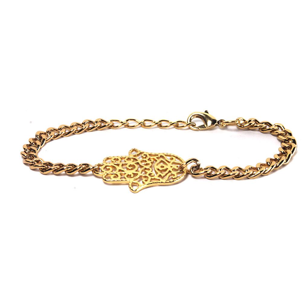 pulseira-femina-folha-dourada