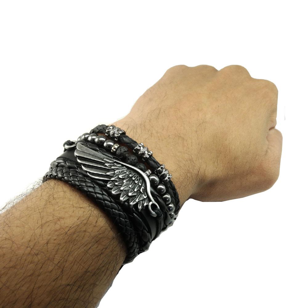 pulseiras-masculinas-de-couro-asa-negra