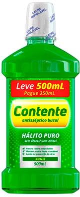 Enxaguante Bucal Contente Hortelã Leve 500ml Pague 350ml