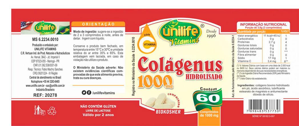 Colágenus Unilife Colágeno Hidrolisado + Vitamina C - Em Cápsulas