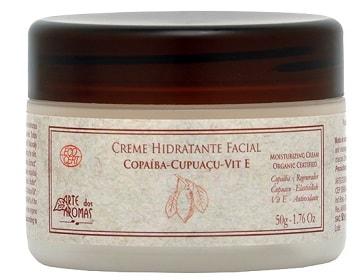 Creme Hidratante Facial Orgânico Arte dos Aromas Ecocert 50g