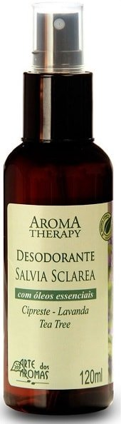 Desodorante Natural de Sálvia Spray Arte dos Aromas 120ml