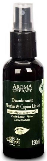 Desodorante Natural Alecrim e Capim Limão Spray Arte dos Aromas 120ml