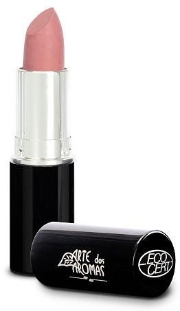 Maquiagem vegana batom vegano natural orgânico cor03 rosa quartzo arte dos aromas