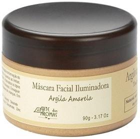 Máscara de Argila Amarela Arte dos Aromas - Iluminadora - 90g
