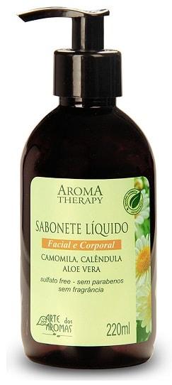 Sabonete Líquido Natural Hipoalergênico Arte dos Aromas 220ml