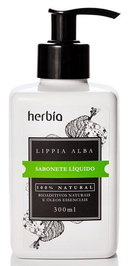 Sabonete Líquido Natural Orgânico Lippia Alba Herbia 300ml
