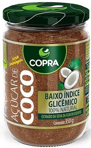 açúcar de coco copra natural vegano