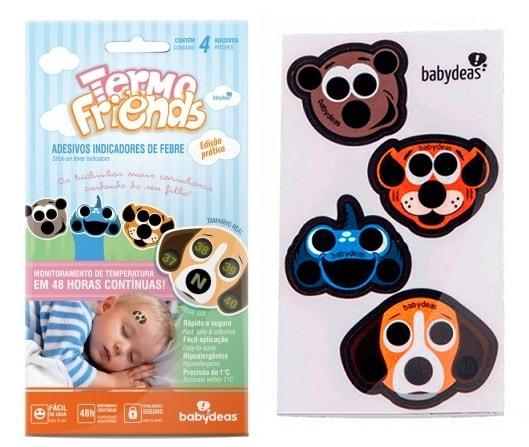 Adesivo Indicador de Febre Termo Friends Babydeas - 4 unidades
