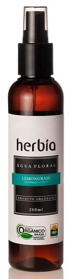Água Floral - Hidrolato Orgânico de Lemongrass - Capim Limão Herbia 200ml