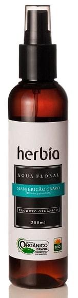 Água Floral - Hidrolato Orgânico de Manjericão Cravo Herbia