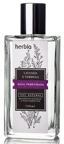 Água Perfumada Natural Orgânica Lavanda Herbia 100ml