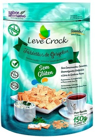 Tabletitos de Gergelim Leve Crock Sabor Alternativo 150g