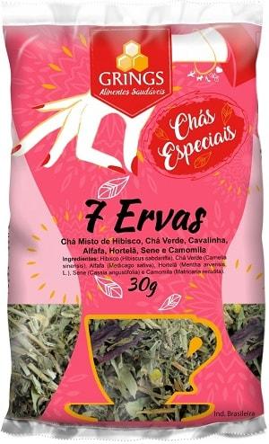 Chá Emagrecedor 7 Ervas Grings 30g