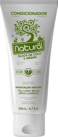 condicionador natural orgânico vegano com óleo de coco contente suavetex