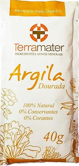 Argila Dourada Orgânica Terramater - Remineralizante 40g