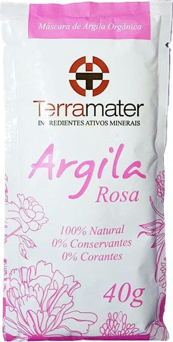 Argila Rosa Orgânica Terramater - Elasticidade 40g