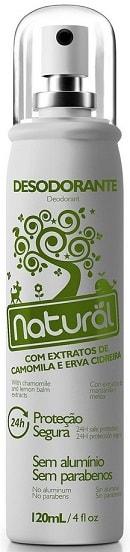 Desodorante Natural Spray com Camomila e Erva Cidreira - Contente Suavetex - 120ml