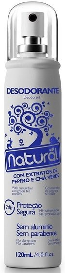 Desodorante Natural Spray com Pepino e Chá Verde - Contente Suavetex - 120ml