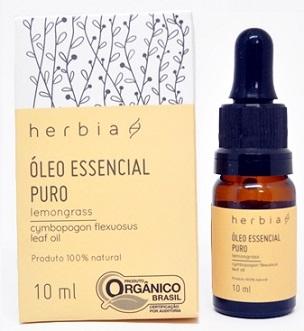 óleo essencial herbia lemongrass capim limão