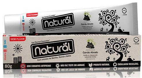 Creme Dental Natural com Carvão Ativado Contente Suavetex 80g