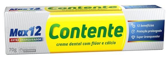 Pasta de Dente Vegana Contente Max 12 Branqueadora 70g