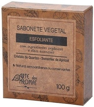 Sabonete Barra Esfoliante Cristais de Quartzo Arte dos Aromas 100g